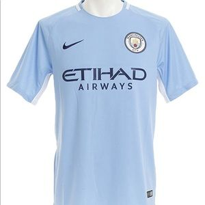 NWT Nike 17/18 Manchester City FC Home Tee Sz L
